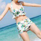 Set: Floral Print Bikini + Sleeveless Top 1596