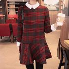 Plaid Collar Dress 1596