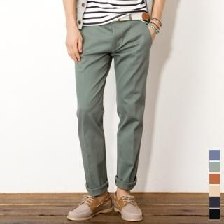 Colored Cotton Pants