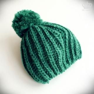 Picture of De Karma Pompom-Accent Knit Beanie 1021464974 (De Karma, Mens Hats & Scarves, Korea)