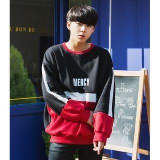 Lettering Color-Block Sweatshirt 1055438379
