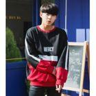 Lettering Color-Block Sweatshirt 1596