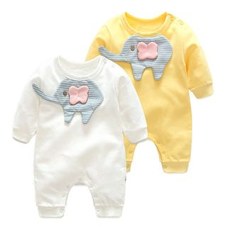 Baby Elephant Long-Sleeve Bodysuit