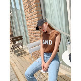 Image of AND Sleeveless Textured T-Shirt