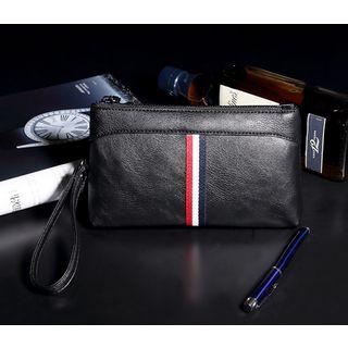 Stripe Faux Leather Clutch 1053124434