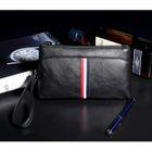 Stripe Faux Leather Clutch 1596