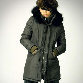 Buy deepstyle Fur Trim Hooded Padded Coat 1021878976
