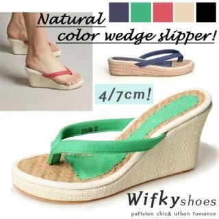 Buy Wifky Wedge Thong Sandals (2 Designs) 1022811315