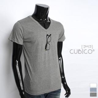 Buy CUBICO V-Neck Short-Sleeve Printed T-Shirt 1022900838