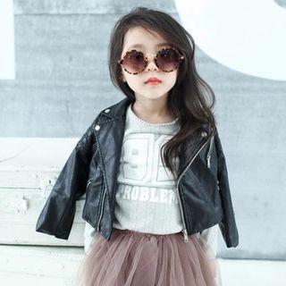 Kids Faux Leather Biker Jacket 1057630028