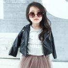 Kids Faux Leather Biker Jacket 1596