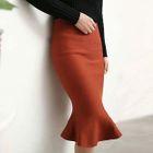 Ruffled Pencil Skirt 1596
