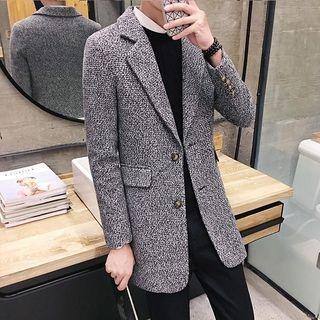 Notch Lapel Long Woolen Coat 1061993482