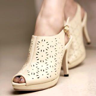 Buy Kvoll Genuine Leather Perforated Heels 1022740663