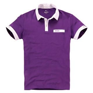 Picture of Justyle Contrast-Trim Short-Sleeve Polo Shirt 1022740963 (Justyle, Mens Tees, China)