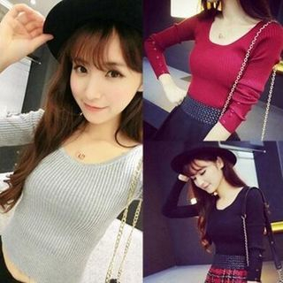 Ribbed Knit Top 1062357786