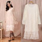 Long-Sleeve Ruffle Lace Dress 1596