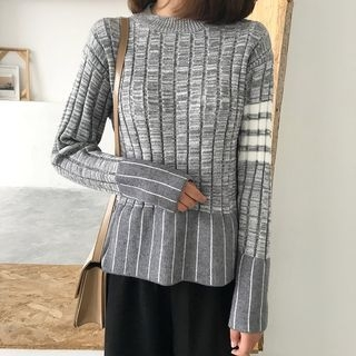 Ribbed Long-Sleeve Knit Top 1064044907