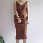 Ribbed Strappy Midi Dress 1596