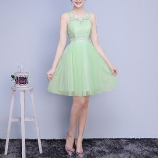 Sleeveless Bridesmaid Cocktail Dress 1065232261