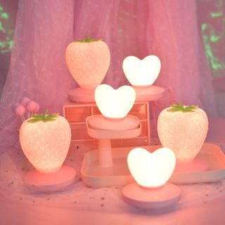 Image of Rechargeable Heart / Strawberry Night Lamp