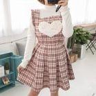 Sleeveless Check Dress 1596