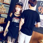 Couple Matching Short-Sleeve Print T-Shirt / Set: Sheet T-Shirt + Printed Tank Dress от YesStyle.com INT