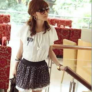 Buy PUFFY Mock Two-Pieces Chiffon Dress 1022815060