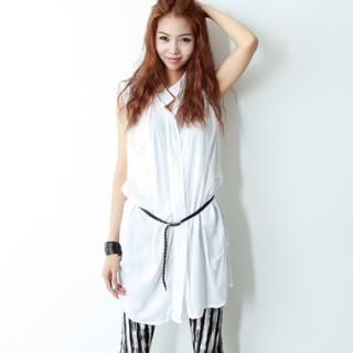 Buy HARU Sleeveless Long Shirt 1022938624