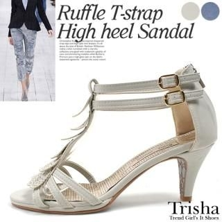Buy Trisha Ruffled T-Strap Sandals 1022940398