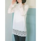 Round-Neck Lace-Trim Top 1596