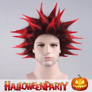 Halloween Party Wig - Red Red/Black - One Size