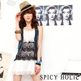 Buy SPICY HOLIC Lace Layered Tank Dress 1022418252