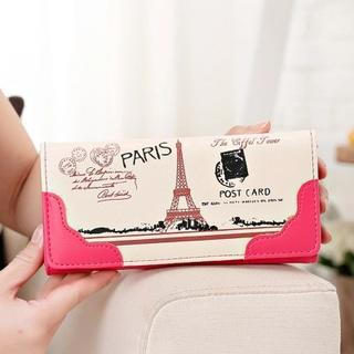 Paris Print Long Wallet