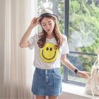 Round-Neck Sequined T-Shirt 1596