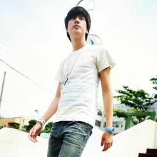Picture of Style Engine Short-Sleeve Stripe T-Shirt 1022901439 (Style Engine, Mens Tees, South Korea)