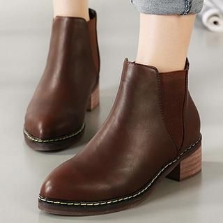 Pointy-Toe Ankle Boots