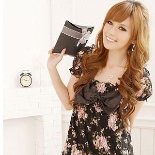 Picture of Reiko Ladies Bow Front Floral Print Dress 1022861649 (Reiko Ladies Dresses, Womens Dresses, Taiwan Dresses)