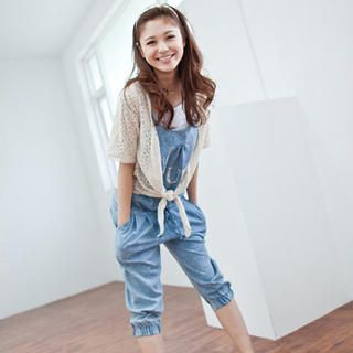 Buy LULUS Tie-Waist Denim Jumper Pants 1023056300