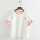 Embroidered Short-Sleeve T-Shirt 1596