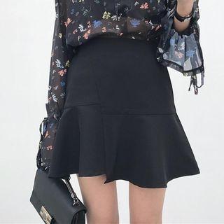 Ruffle Hem A-Line Mini Skirt 1059687754