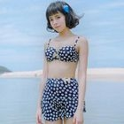 Bow-Accent Dotted Bikini 1596