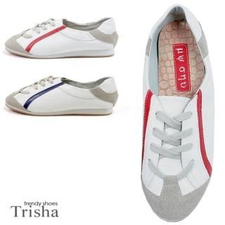 Picture of Trisha Contrast Trim Sneakers 1020276472 (Sneakers, Trisha Shoes, Korea Shoes, Womens Shoes, Womens Sneakers)