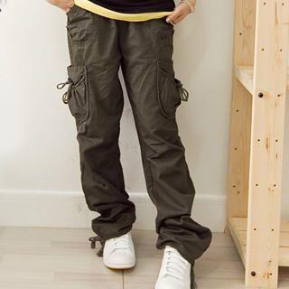 Picture of Fashion Lady Drawstring Pocket Cargo Pants 1022526134 (Womens Drawstring Pants, Womens Cargo Pants, Fashion Lady Pants, China Pants)
