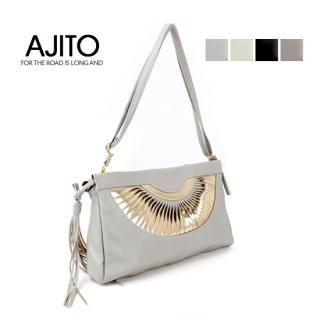 Buy AJITO Faux-Leather Clutch with Strap 1021534144