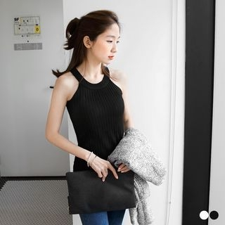 Ribbed Knit Crop Top 1053001019