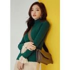 Mock-Neck Slim-Fit Cable-Knit Top 1596