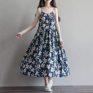 Strappy Floral Midi Dress 1051589031