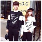 Couple Matching Triangle Printed Pullover от YesStyle.com INT