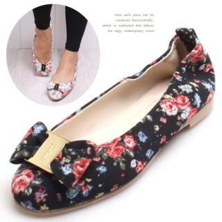 Buy Woorisin Floral Print Flats 1022523405